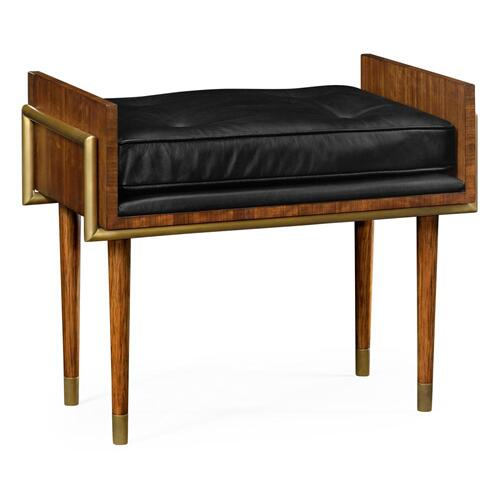 Contemporary stool with Black Leather