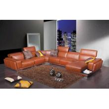 Divani Casa 2996 - Modern Orange Leather Sectional Sofa