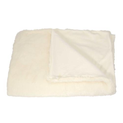 """Throw Sz302 Ivory 50"""" X 70"""" Throw Blanket"""