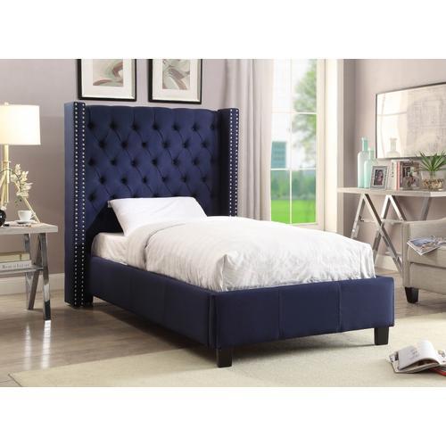 """Ashton Linen Bed - 50"""" W x 81"""" D x 56"""" H"""
