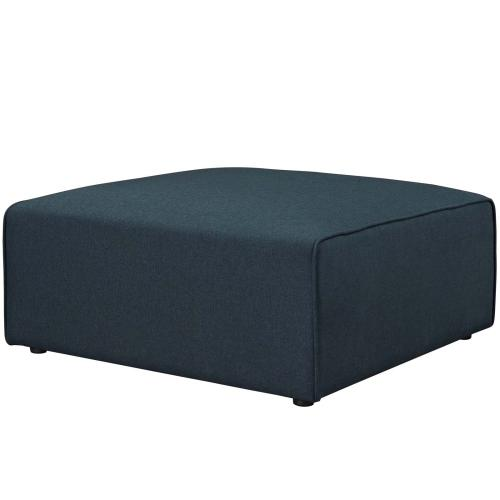 Mingle Fabric Ottoman in Blue