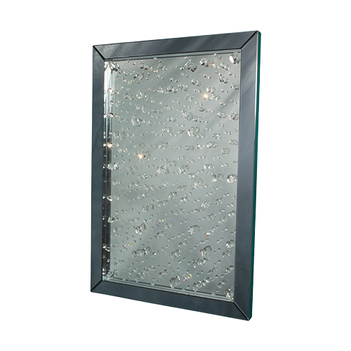 Montreal Rect Crystal Wall Mirror