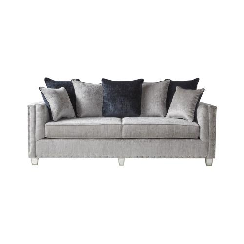 HUGHES FURNITURE 4825SLS1525C Bliss Dove Sofa, Loveseat & Armless Chair Group