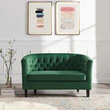 Prospect Performance Velvet Loveseat in Emerald