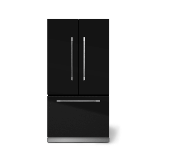 "AGAAga Mercury 36"" French Door Refrigerator, Gloss Black"