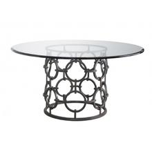 View Product - Seaton Dining Table with Glass Top