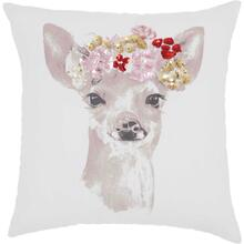 "Trendy, Hip, New-age Jb211 White 18"" X 18"" Throw Pillow"