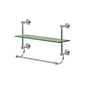 Kingston Single Tier Shelf With Towel Bar