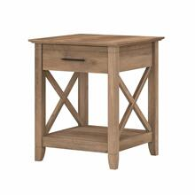 See Details - End Table with Storage, Reclaimed Pine