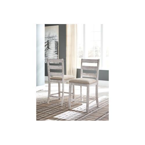 Skempton Upholstered Barstool Two-tone