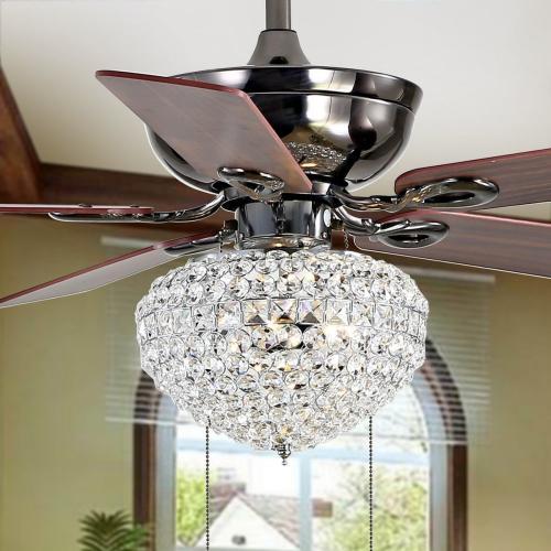 Safavieh - Korla Ceiling Light Fan - Dark Walnut With Black / Dark Walnut( Reversible Option)