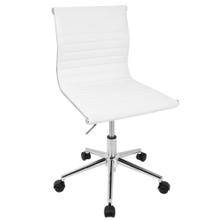 See Details - Masters Task Chair - Chrome, White Pu