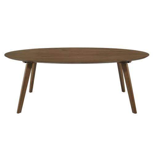 Elements - Razor Oval Coffee Table Walnut