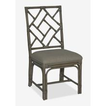 Hampton Chippendale Rattan Side Chair Grey Wash - Cream Taupe Cushion - MOQ 2 (19X22X39) (package: