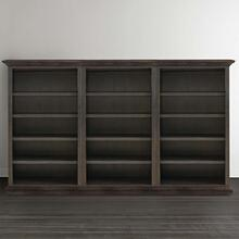 Emporium Smoked Oak Emporium Triple Open Bookcase