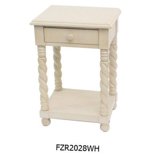 Crestview Collections - WHITE SIDE TABLE