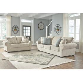 Haisley Sofa and Loveseat Ivory