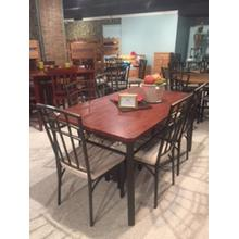 See Details - Heather 5 Pc Round Pub with Bowback Barstools