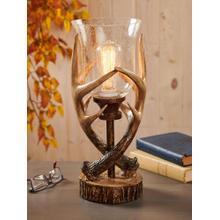See Details - Antler Glass Globe Light