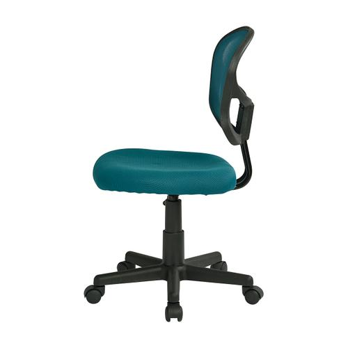 Mesh Task Chair In Blue Fabric