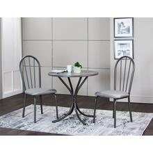 Steel Gray Dining Table Set (3 Piece)