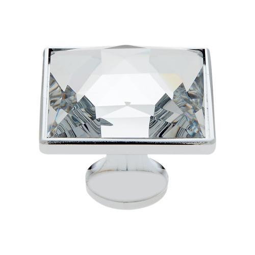 Polished Chrome 35 mm Square Knob