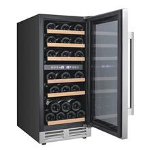 28 Bottle Designer Series Dual Zone Wine Chiller w/Seamless Door