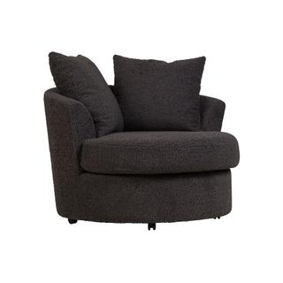 Fuzzy Wuzzy Swivel Chair Gray