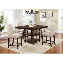 5PC. WOOD COUNTER HEIGHT SET