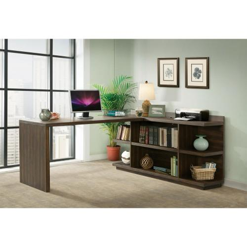 Perspectives - Return Desk - Brushed Acacia Finish