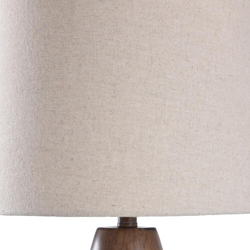 Product Image - BATLEY BRONZE TABLE LAMP  15in w. X 30in ht.  Transitional Smooth Wood Painted Body Table Lamp wit