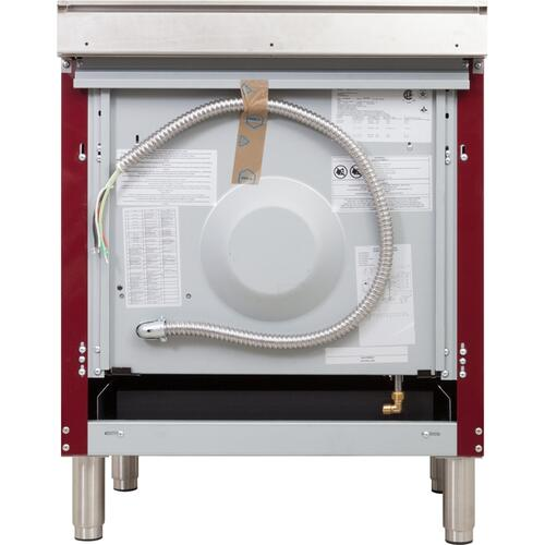 30 Inch Burgundy Dual Fuel Liquid Propane Freestanding Range