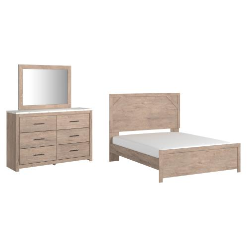 Ashley - Queen Panel Bed With Mirrored Dresser
