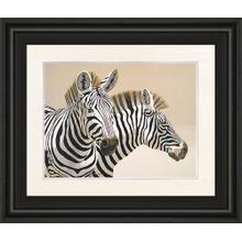 """Zebra"" By Peter Moustakas Framed Print Wall Art"