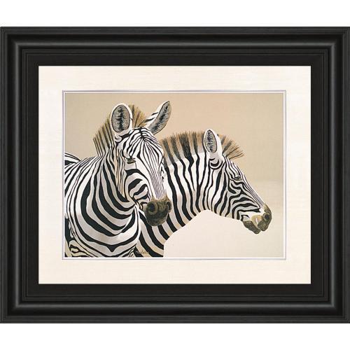 """Zebra"" By Peter Moustakas Framed Print Wall Art"