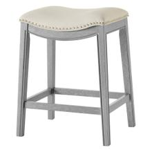 Grover KD PU Counter Stool Ash Gray Frame, Matte Beige