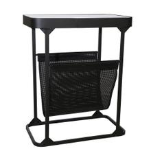 "Metal 22"" Magazine Rack, Black"