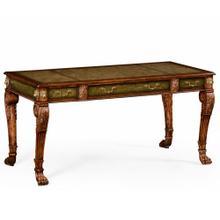 See Details - Italian lions paw desk (Leather & Walnut)