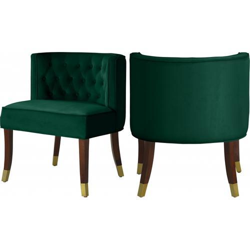 "Perry Velvet Dining Chair - 24"" W x 25"" D x 29.5"" H"