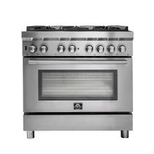 "36"" Gas Range with 240 Volt Electric Oven Dual Fuel Free-Standing Pro-Style Range 304 / 430 Stainless Steel Design FFSGS6188-36"