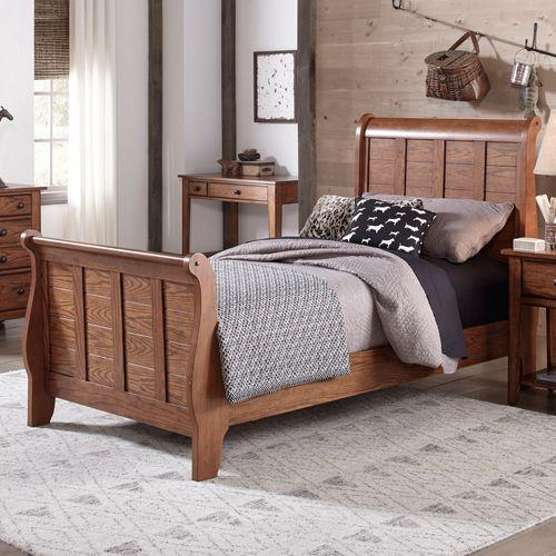 Twin Sleigh Headboard & Footboard
