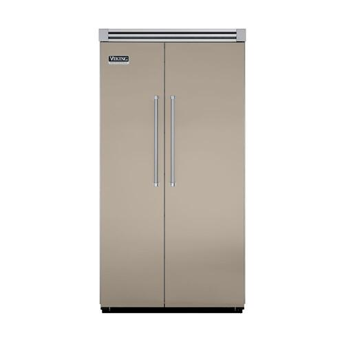 "Viking - Taupe 42"" Side-by-Side Refrigerator/Freezer - VISB (Integrated Installation)"