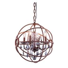 Geneva 4 light Rustic Intent Pendant Silver Shade (Grey) Royal Cut crystal
