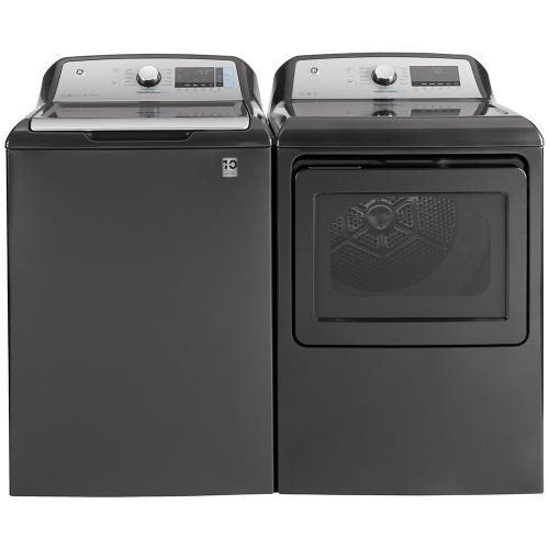 GE® 6.0 cu. ft. (IEC) Capacity Washer with SmartDispense Diamond Grey - GTW840CPNDG