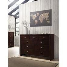 Gloria Brown Cherry Finish Wood 9 Drawers Dresser
