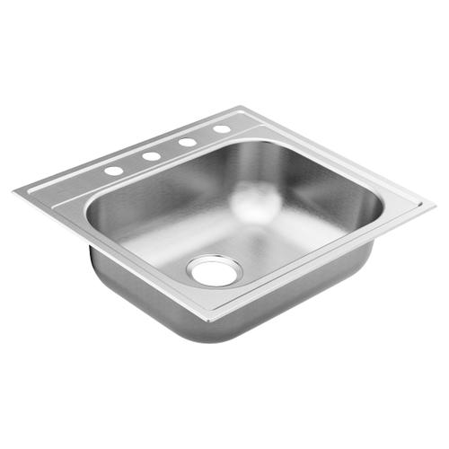 """2200 Series 25""""x22"""" stainless steel 22 gauge single bowl drop in sink"""