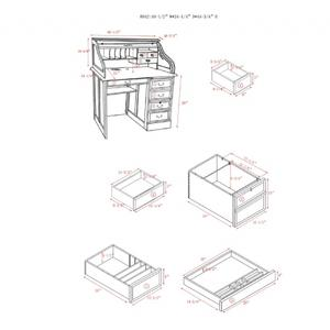 "42"" Roll Top Desk"