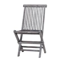 See Details - Folding Chair - Teak C - Grey