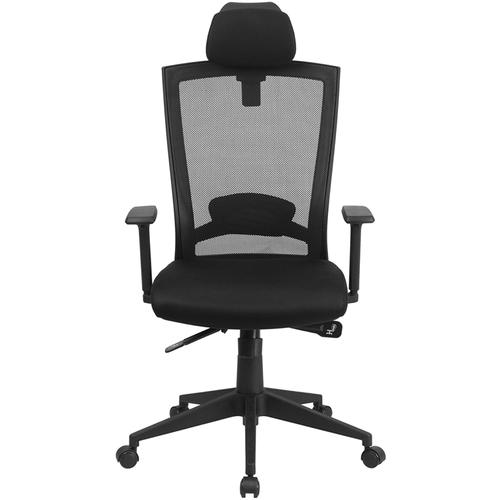 Flash Furniture - High Back Black Mesh Executive Swivel Ergonomic Office Chair with Back Angle Adjustment and Adjustable Arms