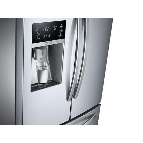 Samsung - 26 cu. ft. 3-Door French Door Refrigerator with External Water & Ice Dispenser in Stainless Steel